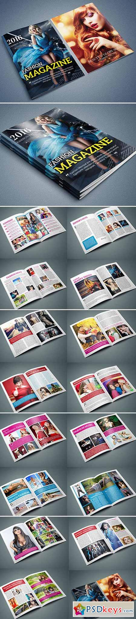 InDesign - 40 Page Magazine Template 462217