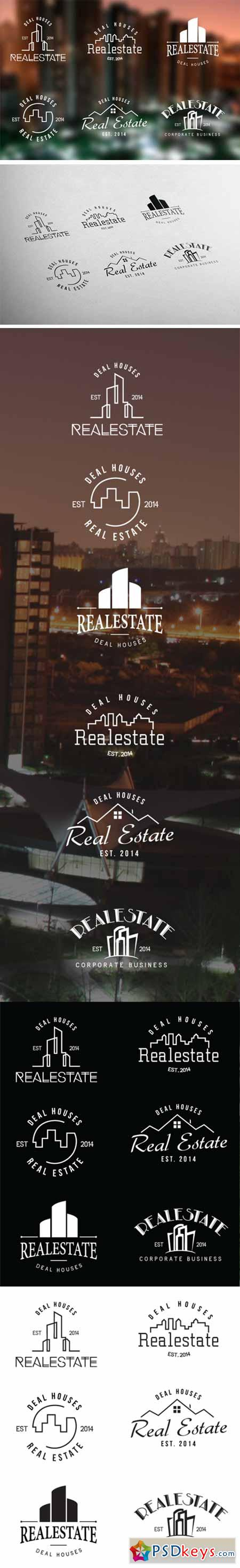 Real Estate Retro Vintage Badges 55743