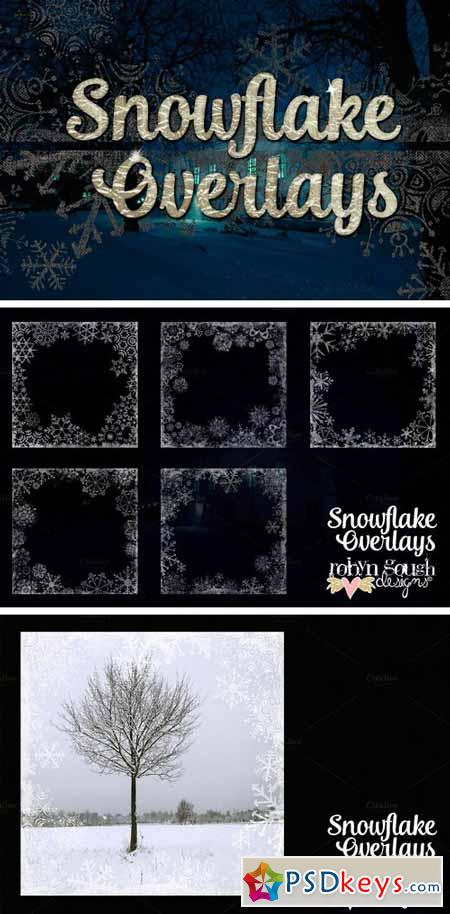 Grungy Textured Snowflake Overlays 21000