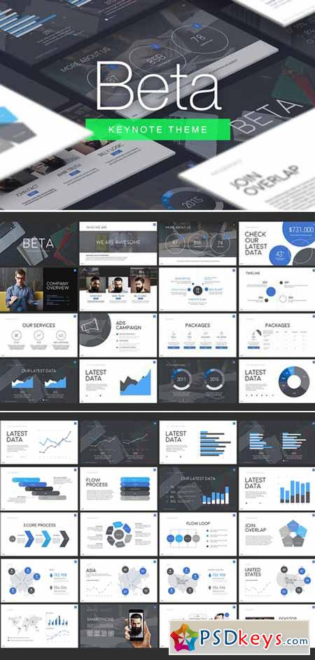 Beta  Keynote Template   Free Download Photoshop Vector