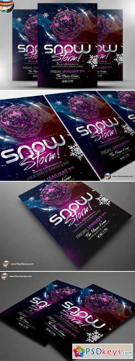 Snow Storm Flyer Template 466275
