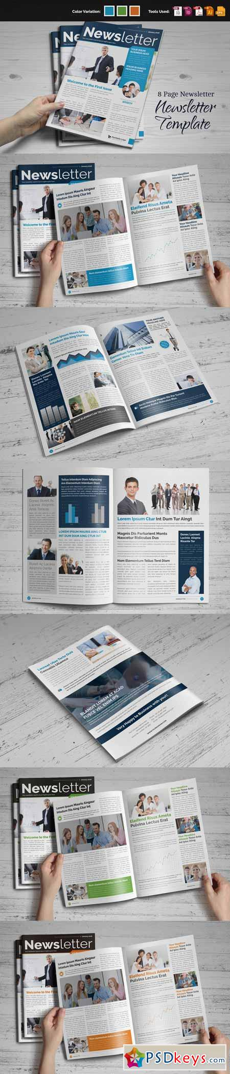 Newsletter Indesign Template 464762 » Free Download Photoshop ...
