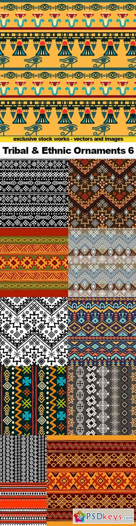 Tribal & Ethnic Ornaments 6 - 12x EPS