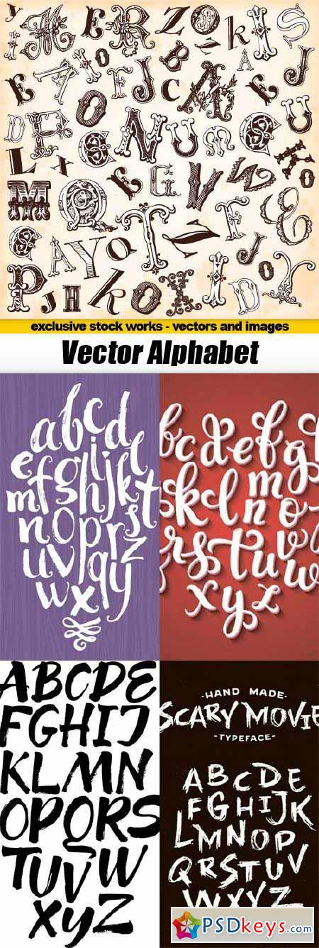 Vector Alphabet pack - 5x EPS