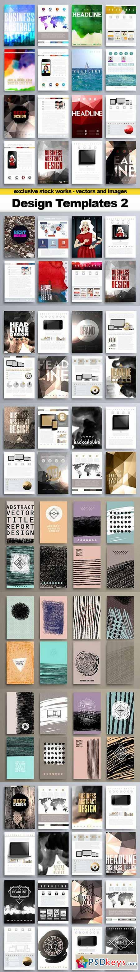 Set of Design Templates for Brochures, Flyers - 20xEPS