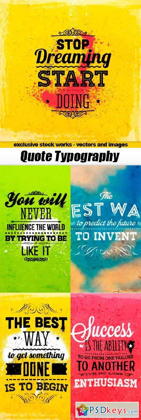 Quote Typographical Backgrounds - 5x EPS