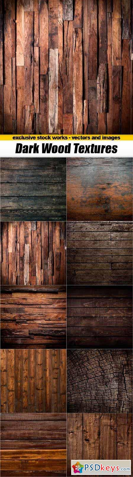 Dark Wood Texture Backgrounds - 10x JPEGs