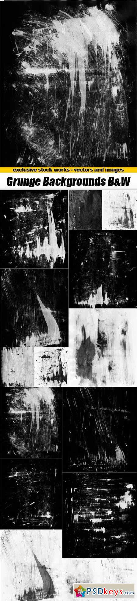 Grunge Backgrounds Black And White - 15x JPEGs