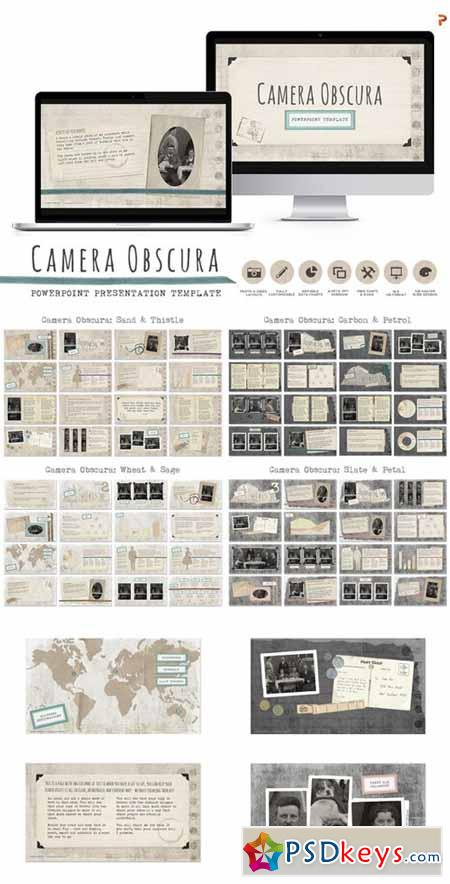 Camera Obscura Powerpoint Templates 462492 » Free Download Photoshop