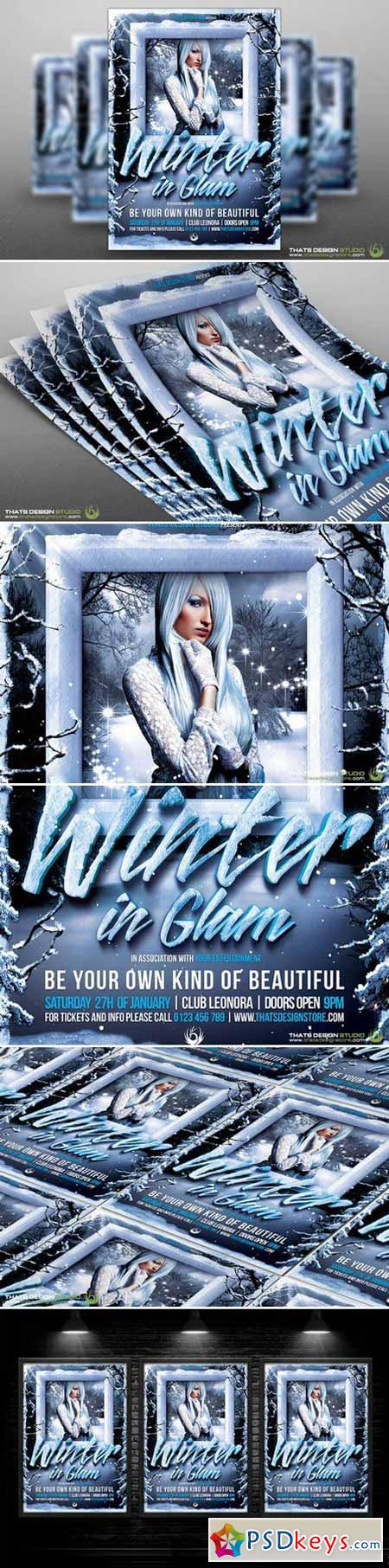 Winter Glam Flyer Template V1 92188