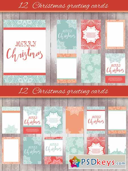 12 Christmas greeting cards - 1 468496