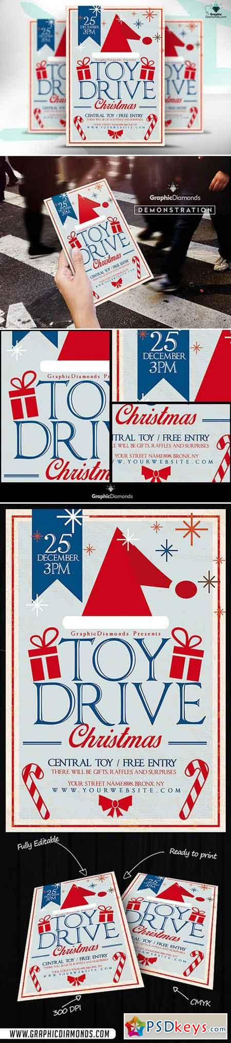 Toy Drive Christmas Flyer 469017