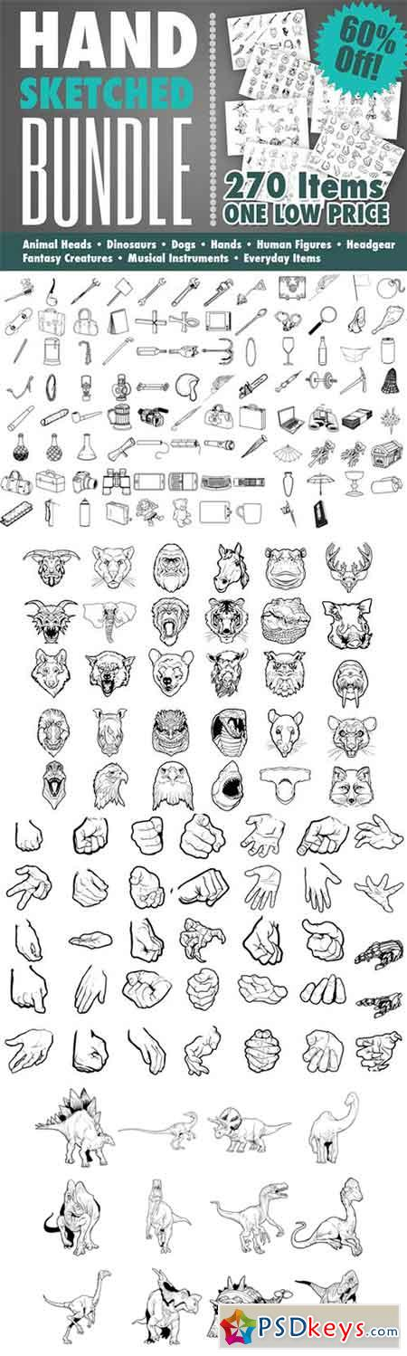 Hand Drawn Art Bundle 107712