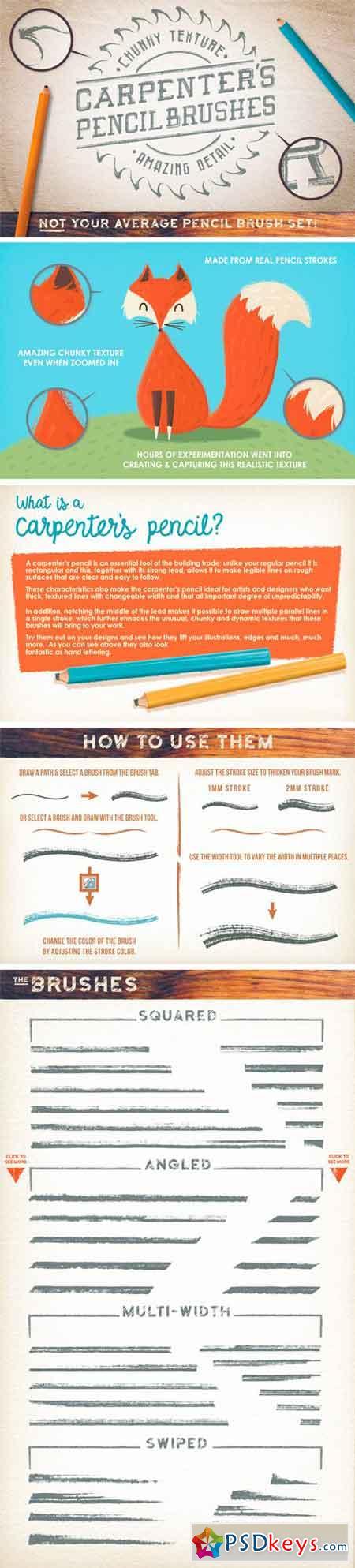 Carpenter's Pencil Brushes 382869 » Free Download Photoshop