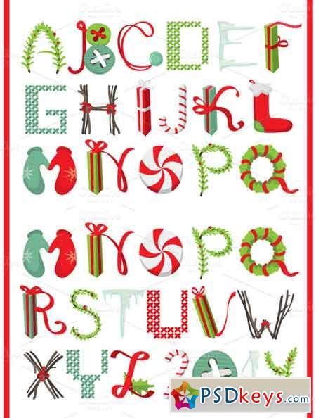 Merry Christmas Latin alphabet 15935 » Free Download Photoshop ...