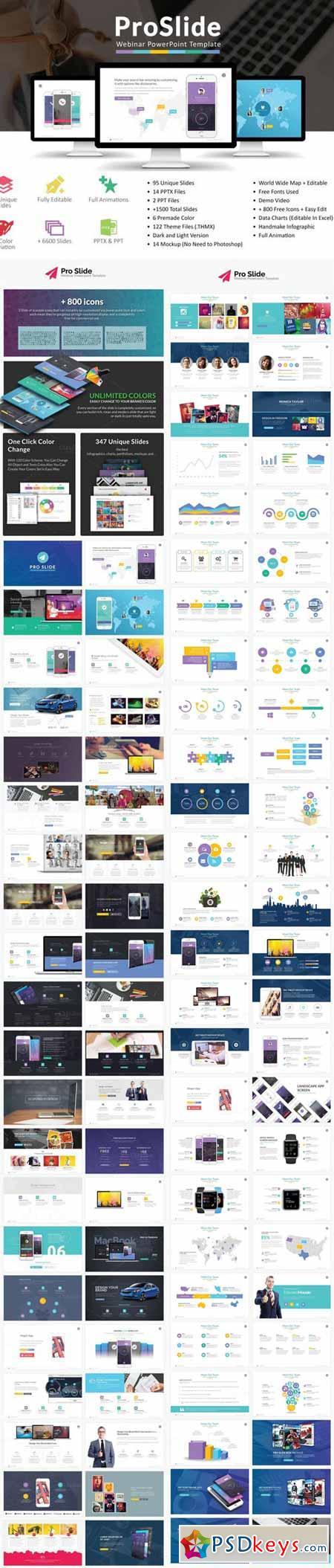 proslide webinar powerpoint template 468826 » free download, Presentation templates