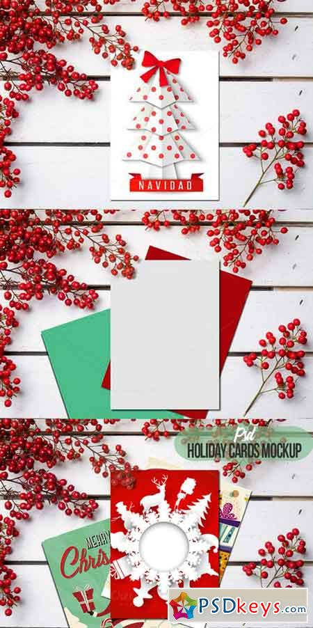 Xmas Mockup Greeting Card Psd Free Download Photoshop - Christmas card templates for photoshop