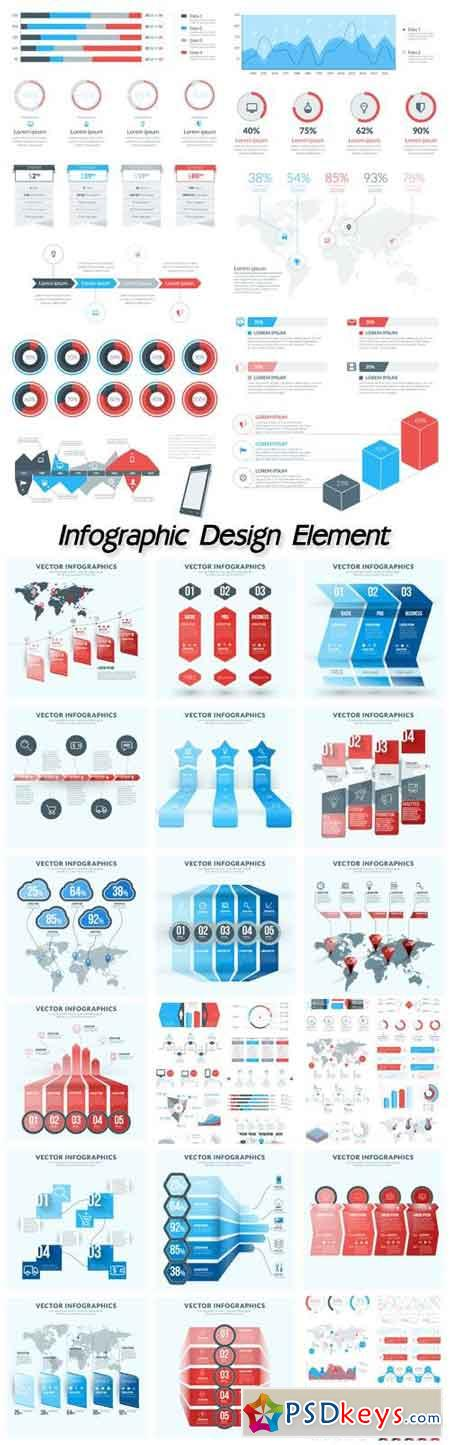 Vector abstract infographic design element