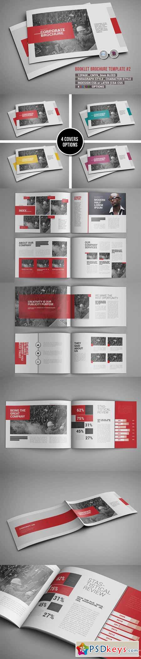 Booklet Brochure Template 2 474399 Free Download Photoshop Vector