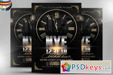 nye countdown flyer template 2 470435 free download photoshop