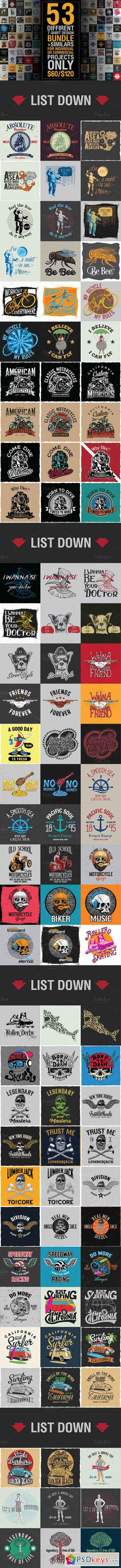 T shirt design 7 25xeps - T Shirt Design Big Bundle 473387