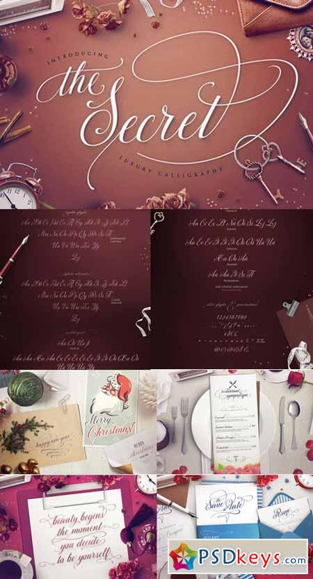 TheSecret Luxury Calligraphy Script 472665