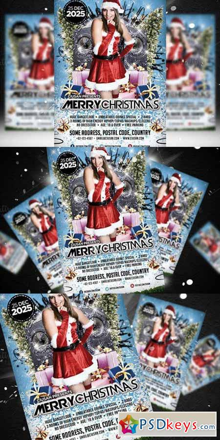 Merry Christmas Flyer Template 416076