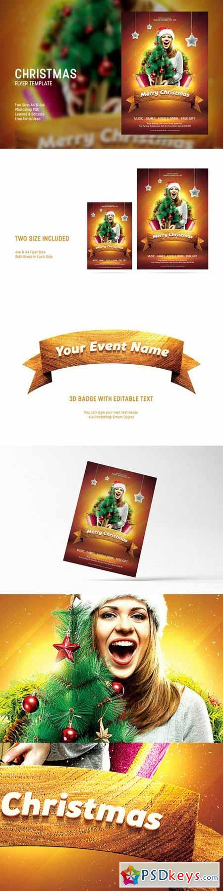 christmas flyer template 425712 photoshop vector christmas flyer template 425712