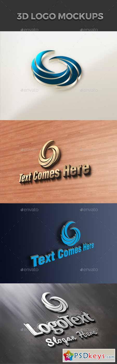 3D Logo Design Mockup 12775216