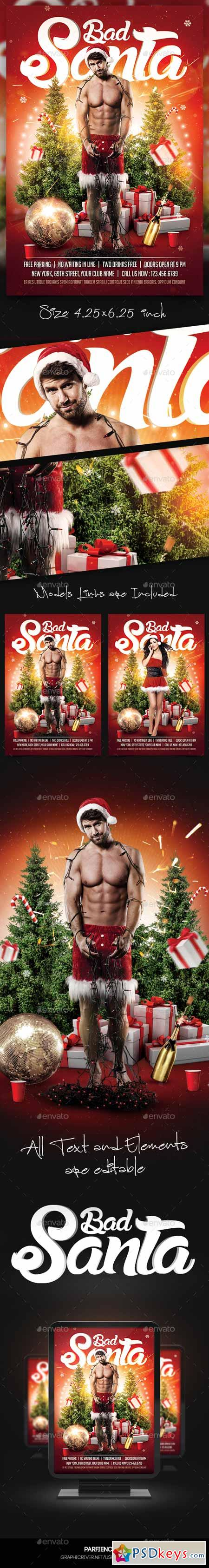 Bad Santa Flyer Template 13489321