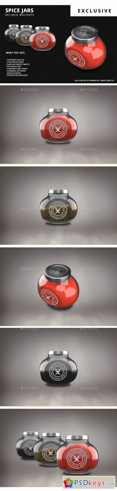 Spice Jar Mock-up Pack 14102167