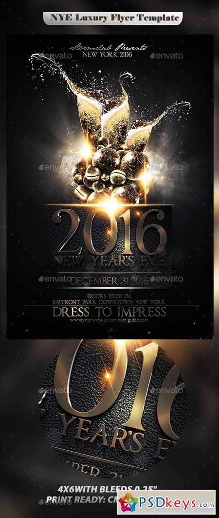 NYE Luxury Flyer Template 13540244