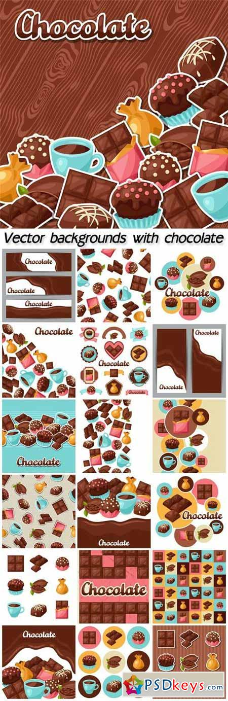 Vector backgrounds with chocolate