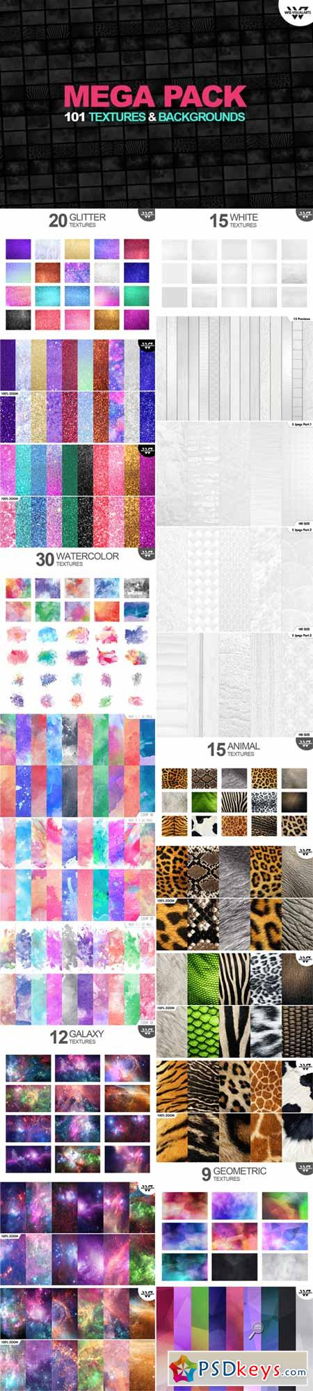 101 MEGA PACK Textures & Backgrounds 476458