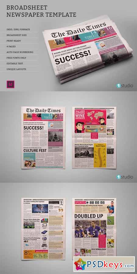 Dailytimes Newspaper Template 473935 Free Download Photoshop