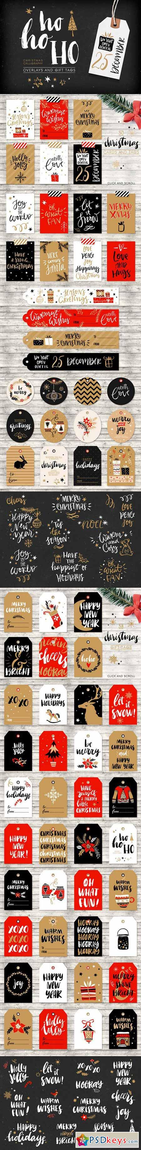Christmas overlays and tags 472951