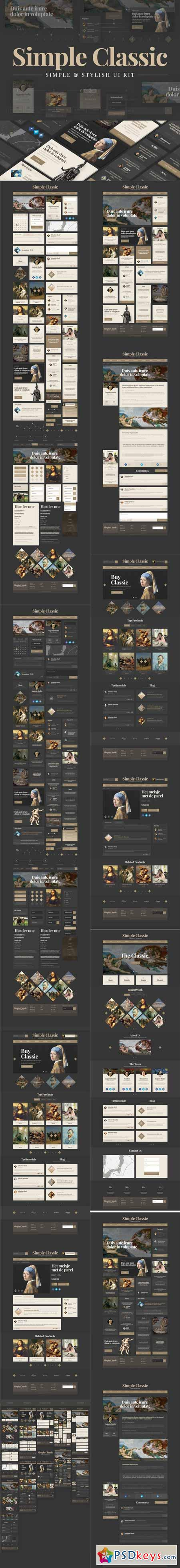 Simple Classic UI Kit 442882
