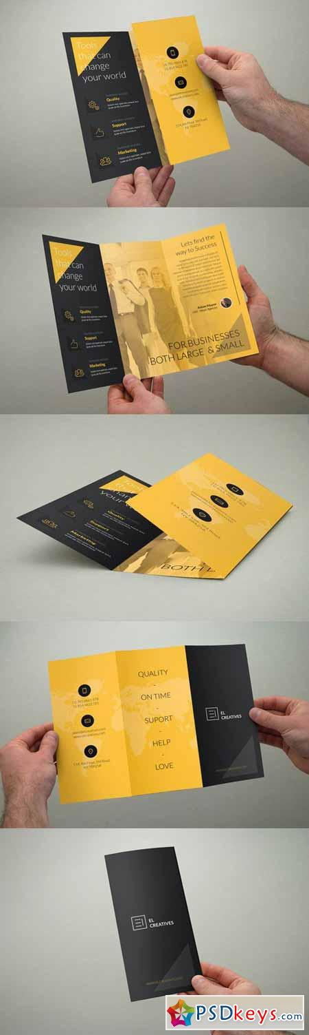 Creative Yellow Trifold Brochure 390449