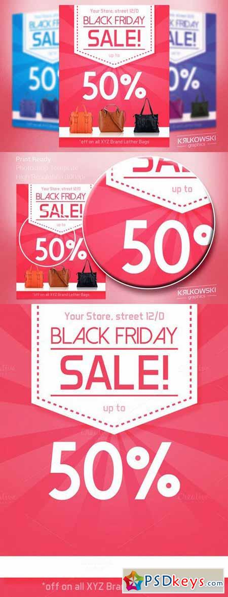 Pink Black Friday Flyer Template 419269