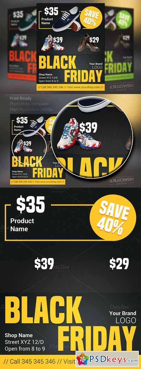 Sale Black Friday Flyer Template 419266