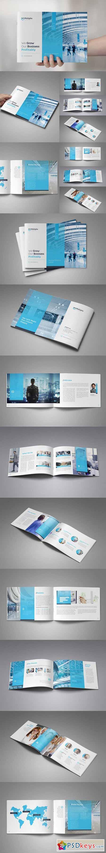 horizontal brochure template