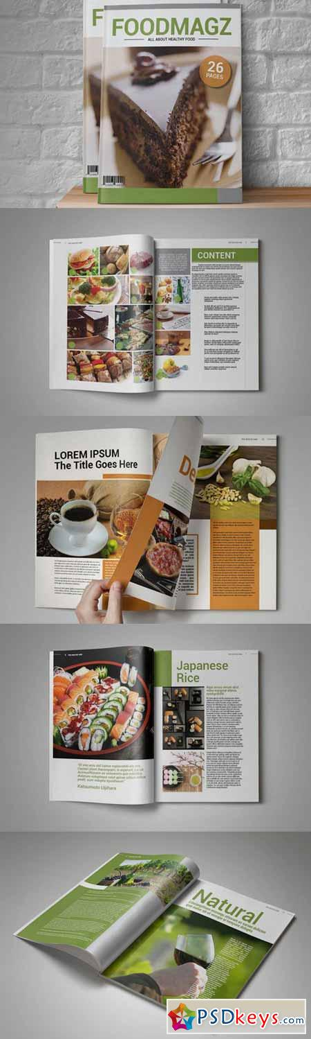 InDesign Magazine Template 87376