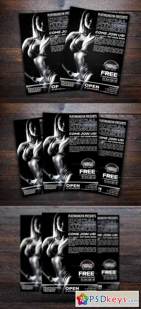 Gym and Fitness Sports Flyer 477896