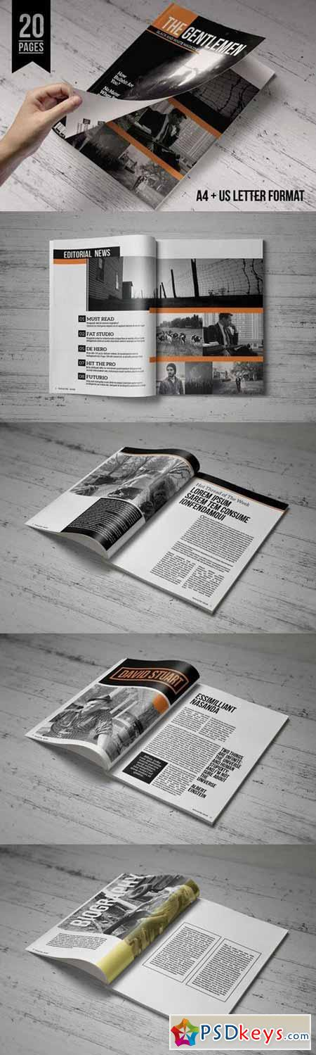 InDesign Magazine Template 82204