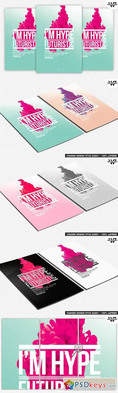 MINIMAL HYPE ABSTRACT Flyer Template 432605