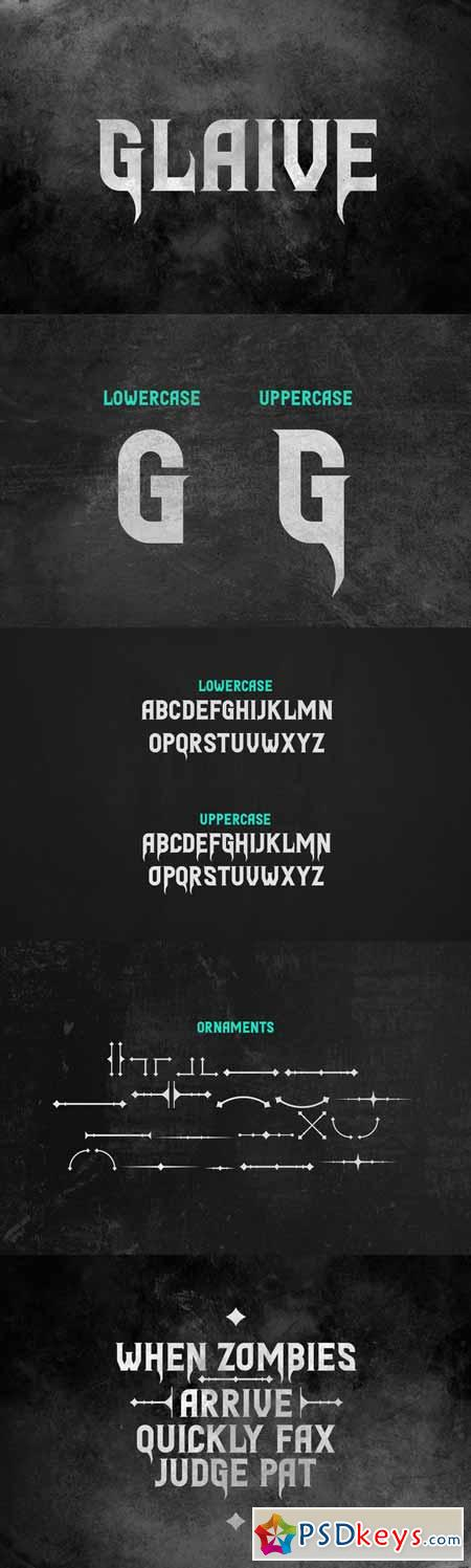 Glaive Typeface 479497