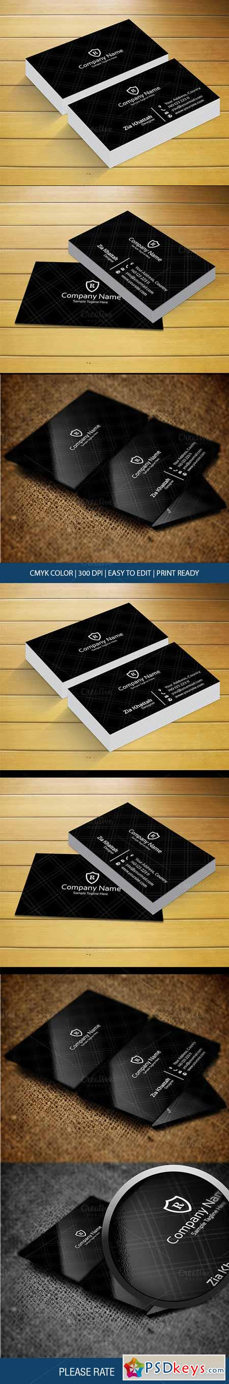 Black Business Card 478430