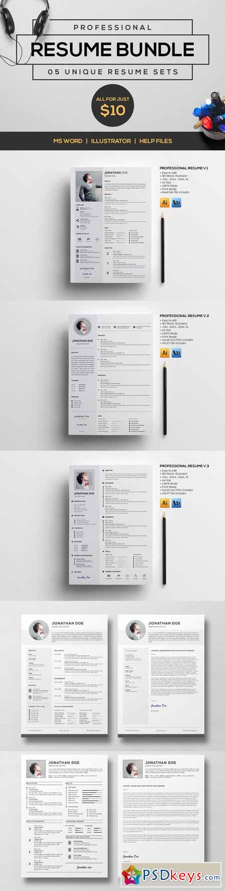 Professional resume bundle v1 479933