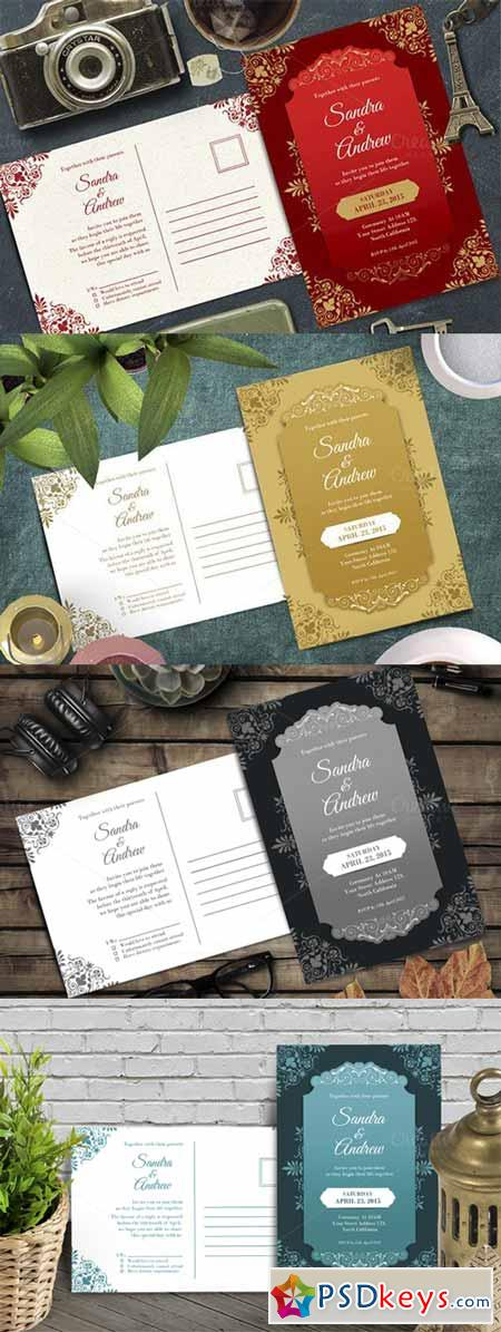 Elegant Wedding Invitation 478366