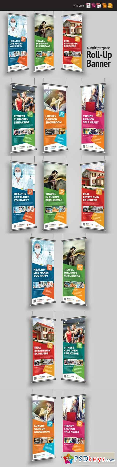 Multipurpose Roll-Up Banner Signage 482366